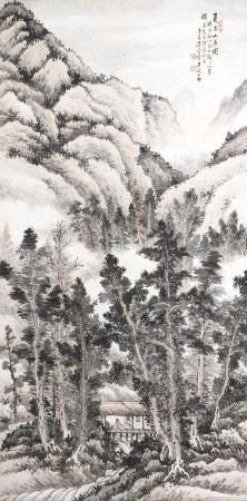 1938年作 吳楚寶 夏木山居圖