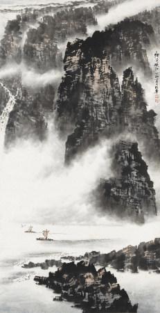 1987年作 史明華 煙籠峽江