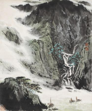 1984年作 盧武澄 春到峽江
