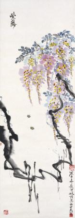 1980年作 姚陸其 紫藤蜜蜂