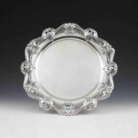 Salva em prata 833%, séc. XIX/XX, P.1056g
