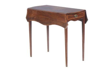 Mesa de abas em vinhático e outras madeiras