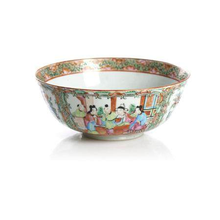 """Taça em porcelana chinesa, dita """"Mandarim"""""""