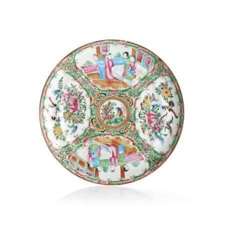 """Prato em porcelana chinesa, dita """"Madarim"""""""