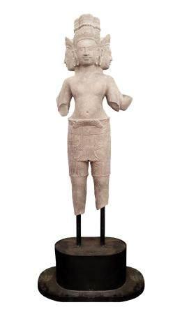 CAMBODGE, PROVINCE DE SIEMREAPS, 10-11ème SIECLE Statue Brahma à 4 têtes