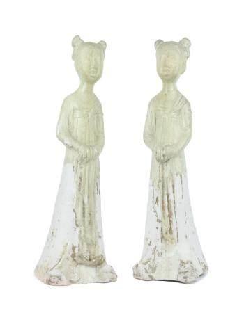 ART DE CHINE, DYNASTIE SUI (581-618) Paire de statuettes