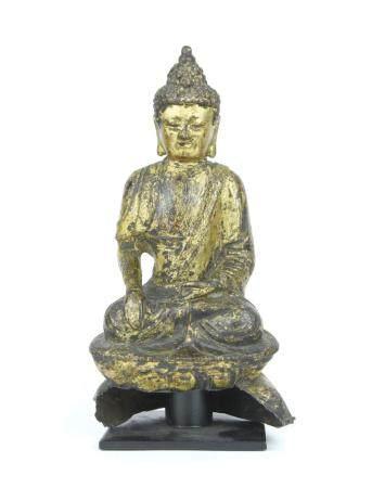 ART CHINOIS, DYNASTIE MING (1368-1644) Bouddha Shakyamuni