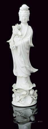 CHINE, 19ème SIECLE Guan-Yin