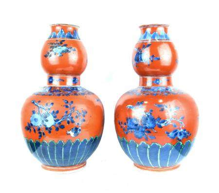 CHINE D'EPOQUE QING Paire de vases