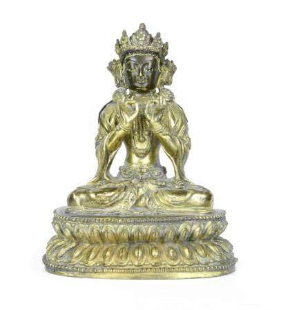 ART SINO-TIBETAIN, 18-19ème SIECLE Bouddha