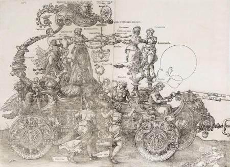 Albrecht Dürer (Nürnberg 1471 - Nürnberg 1528). Der Große Triumphwagen.
