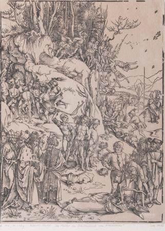 Albrecht Dürer (Nürnberg 1471 - Nürnberg 1528). Martyrdom of the Ten Thousand.