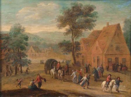 Abraham Govaerts (Antwerpen 1589 - Antwerpen 1626), attr. Busy Village.