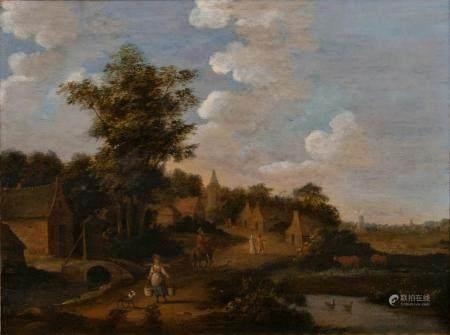 Jan van de Velde (um 1593 - Enkhuizen 1641), follower. Rural Idyl.