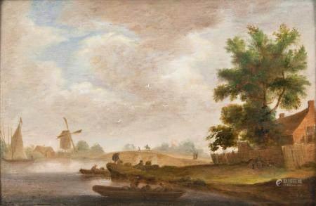 Pieter Jansz. van Asch (Delft 1603 - Delft 1678), attr. River Landscape.