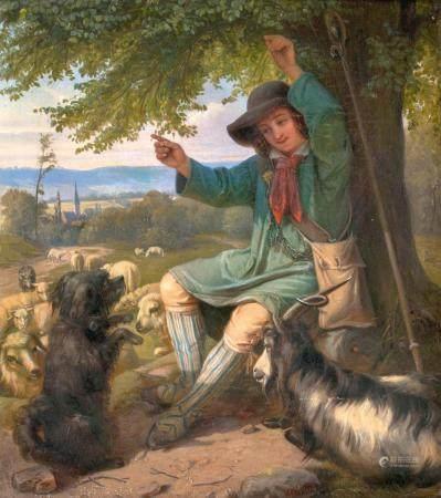 Philipp Herrlich (Solms-Laubach 1818 - Havanna 1868). The happy Shepherd.