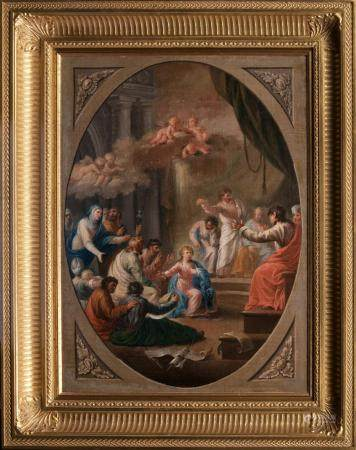 Spanish Master active 18th cent. Christ among the Doctors.