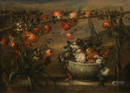 Jean Baptiste Monnoyer (Lille 1636 - London 1699), follower 18th cent. Flowers.