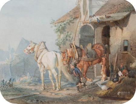 Louis Braun (Schwäbisch-Hall 1836 - Stuttgart 1916). On the Way to Work.