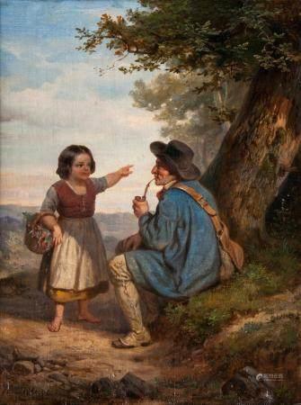 Henri-Joseph Dillens (Gent 1812 - Brüssel 1872). That's the way.