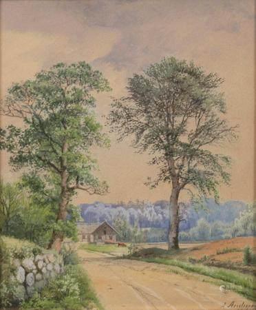 Anders Andersen-Lundby (Lundby 1841 - München 1923). Companion pieces Summer and Winter.
