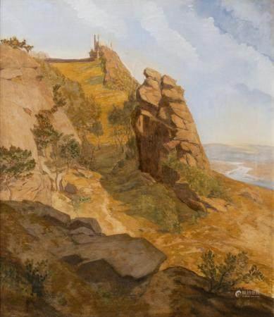 Eduard Wilhelm Pose (Düsseldorf 1812 - Frankfurt 1878). Romantic Landscape.