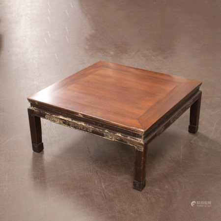 红木四方矮桌