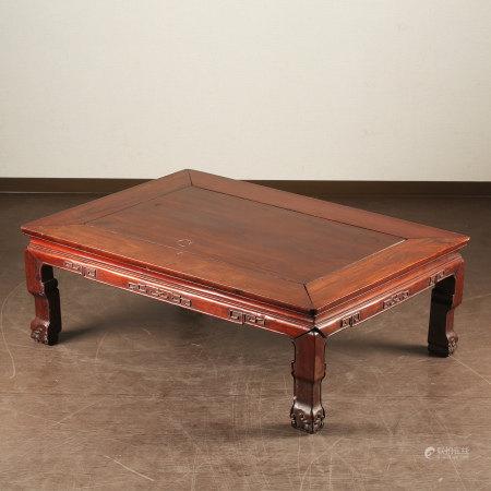 红木长方矮机