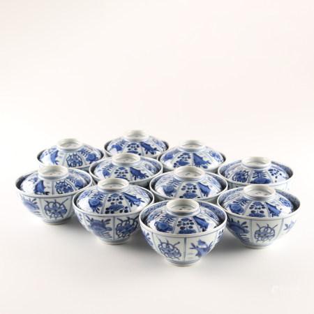 大明成化年制盖茶碗10客