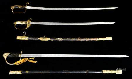 (3) Japanese swords incl. an Army parade company grade sabre
