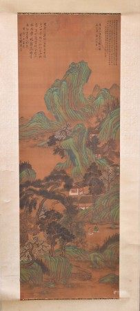 Scroll painting China Qing dynasty