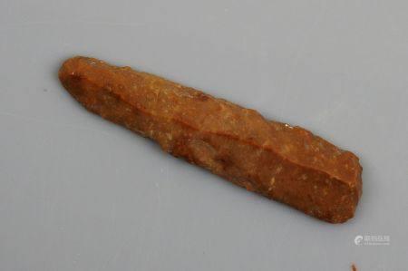 Couteau facetté Silex du grand Pressigny 10.2 cm Préhistoire française