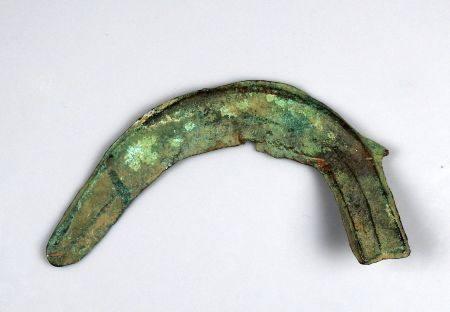 Faucille à languette de grande taille Bronze 17,2 cm Protohistoire Age du bronze final