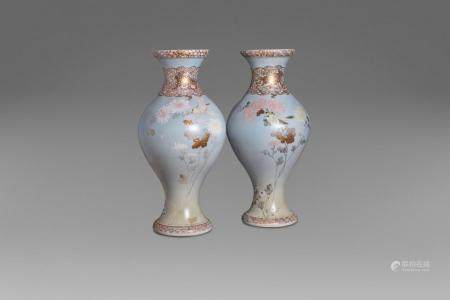 Pair of Satsuma vases, Japan, early 20th century