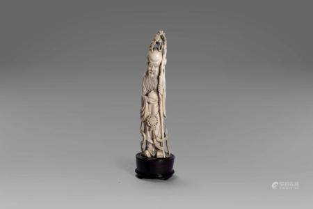 Ivory sculpture depicting Shou Lao, China early 20th century