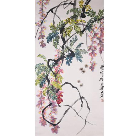 齐白石  花卉  纸本立轴