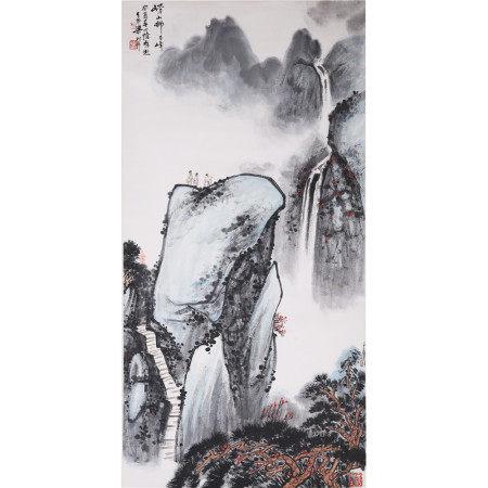 杨树年  山水  纸本立轴
