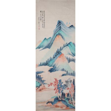 吴琴木  山水  纸本立轴