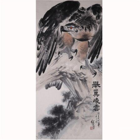 刘继卣 鹰  纸本立轴