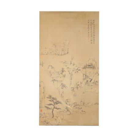 弘仁 山水图