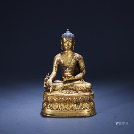 清 铜鎏金释迦摩尼像