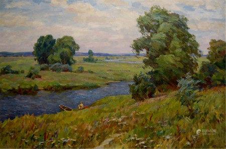 BORIMCHUK MIKHAIL PETROVICH Oil painting Landscape