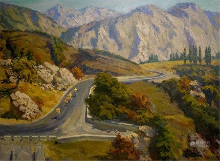LITOVCHENKO BORIS ALEXANDROVICH Oil painting Mountain landscape