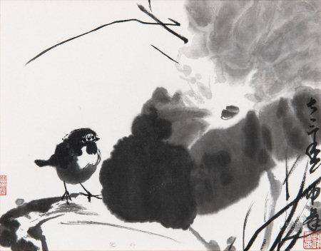 盧坤峰 1973年作 荷鳥