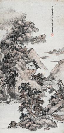 奚屠格 1939年作 山水
