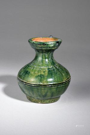 綠釉弦紋壺