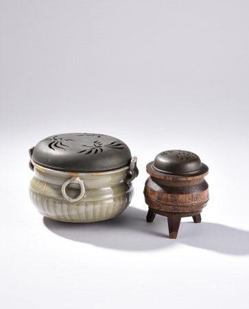 南宋青銅蓋香爐 黃銅蓋三足爐