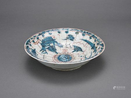 漳州窯海洋風景盤