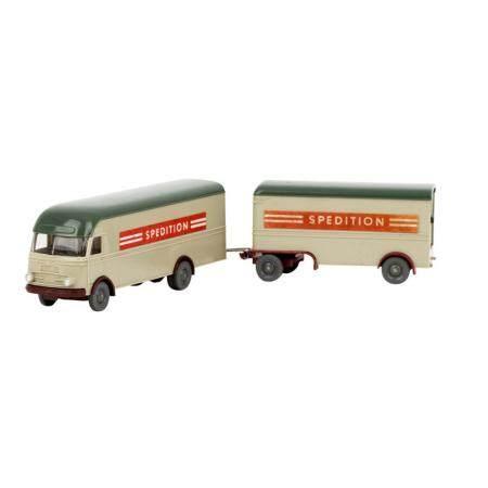 WIKING Großraum Möbelwagen MB LP 312 'Spedition' mit Anhänger, 1966/67,