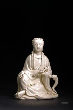A DEHUA BLANC DE CHINE FIGURE OF GUANYIN
